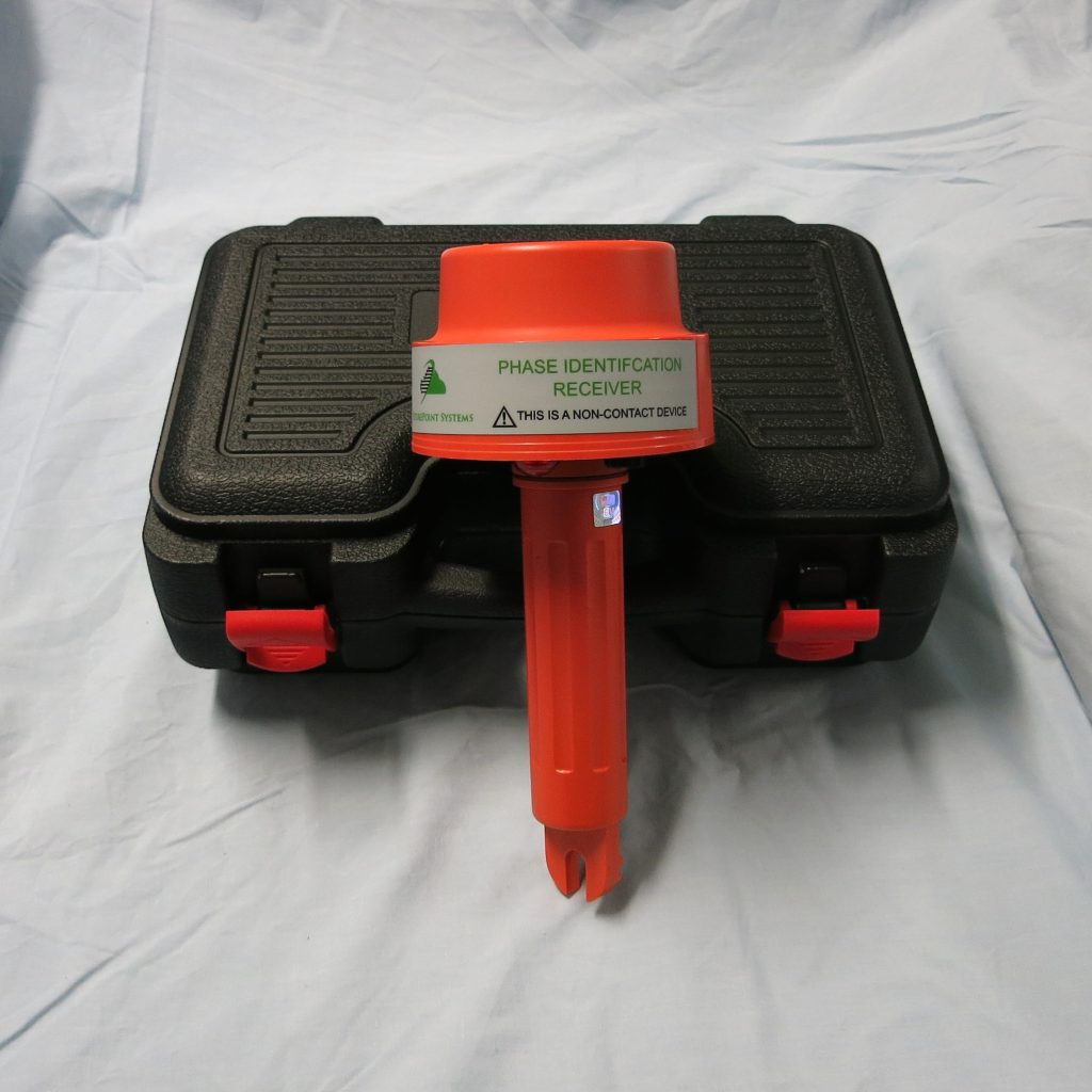 Picture of a Phase I.D. Non Contact Receiver Wand shown with a black hard cover case