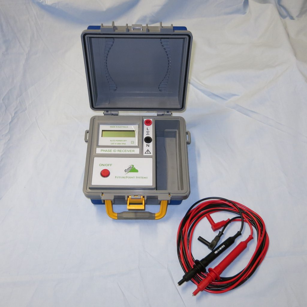 Picture of a Phase Identification Unit Opened with Leads